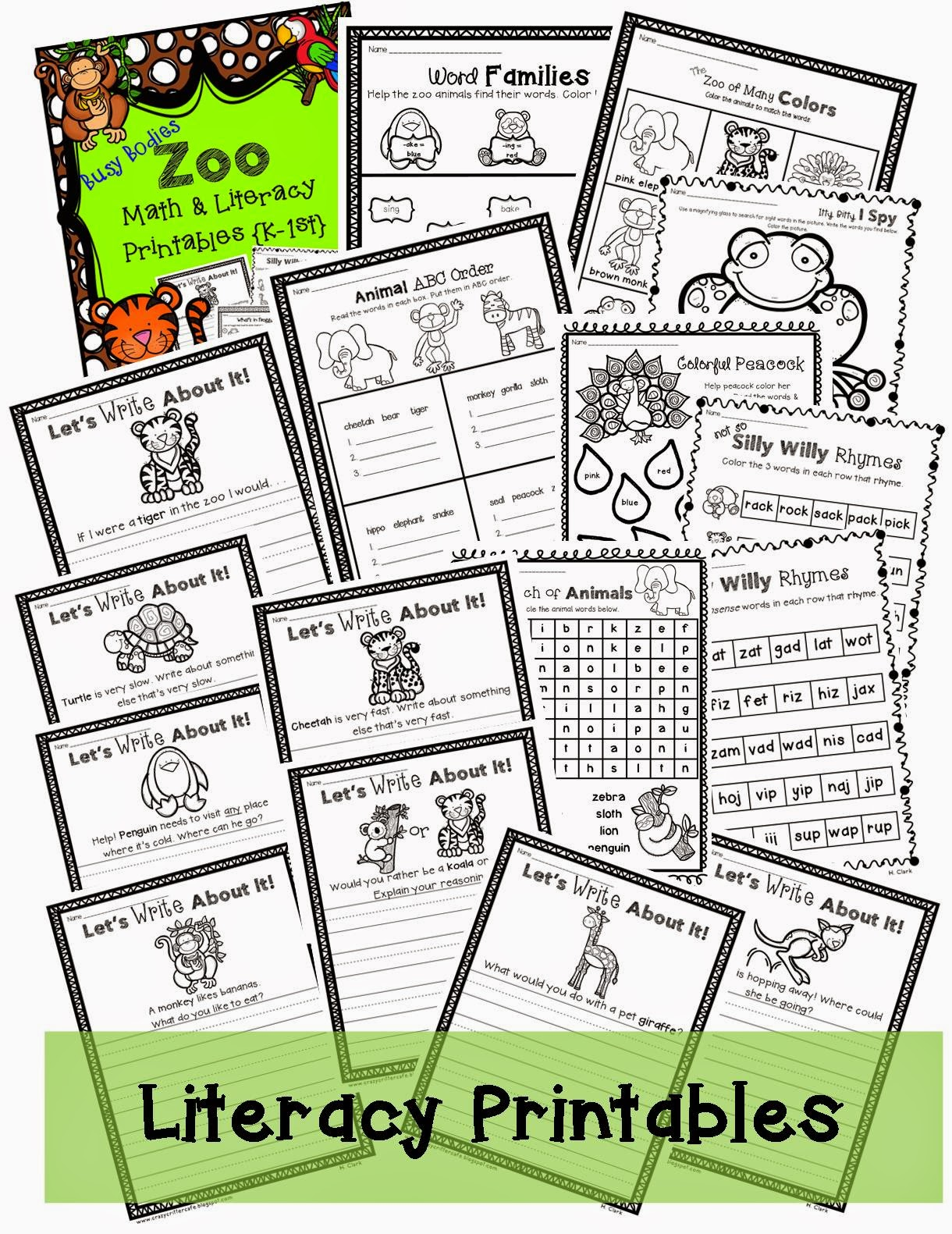 http://www.teacherspayteachers.com/Product/Busy-Bodies-Zoo-Theme-Math-Literacy-Printables-Print-Go-1386177