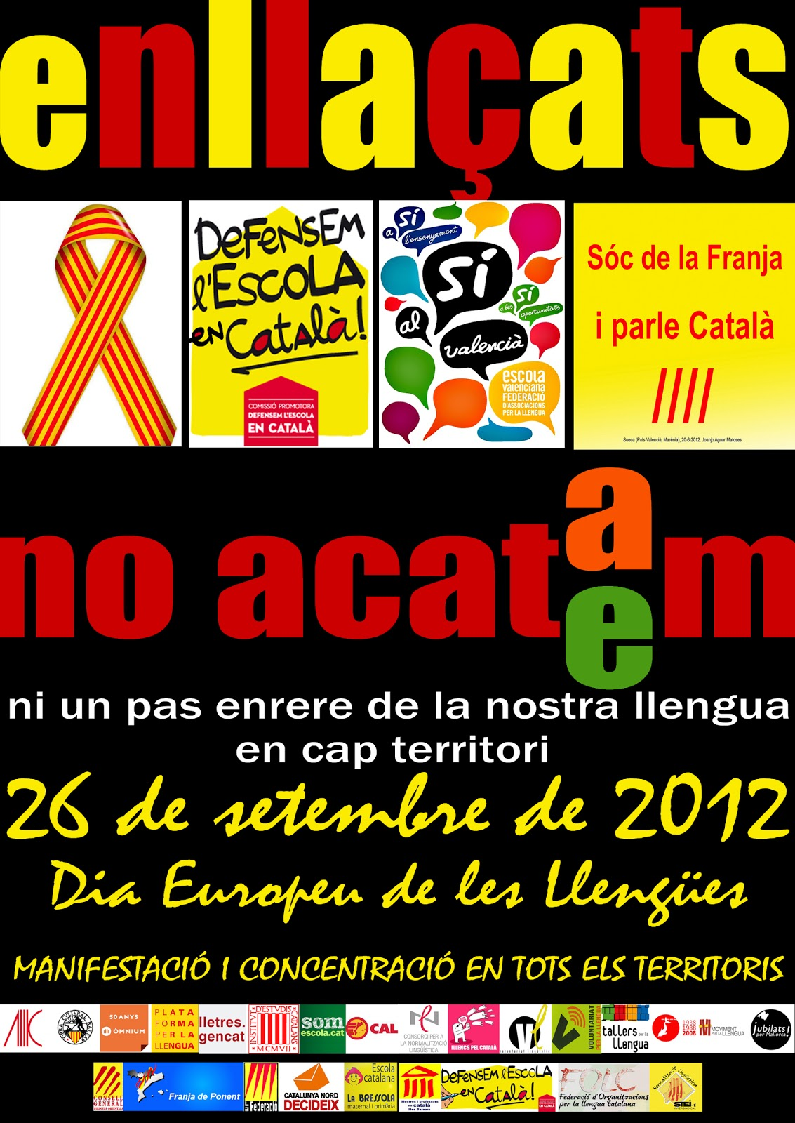 Manifestació en defensa de la llengua catalana (26-09-12)