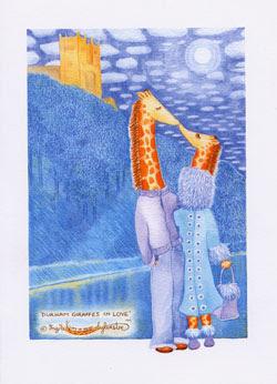 Durham Giraffes in Love UK Giraffe Artist Ingrid Sylvestre