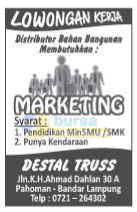 Lowongan Kerja Lampung Destal Truss