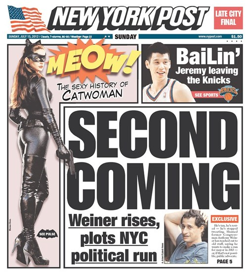 Weiner Jokes, NY Post