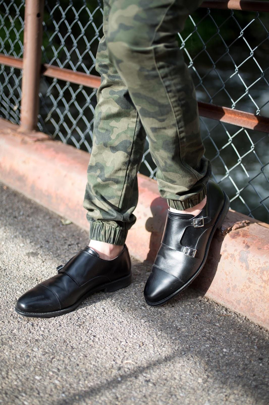 Allen Edmonds Black Munkstrap Shoes