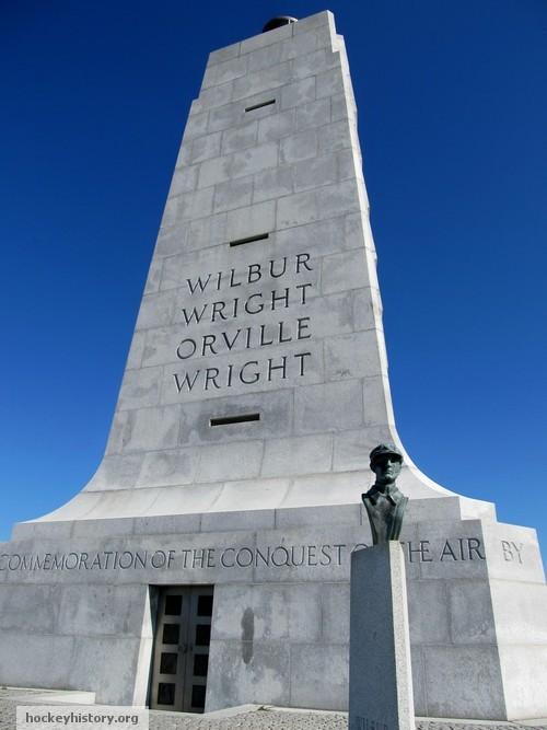 david cooke sculpture. Sculpture of Wilbur Wright in