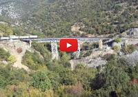 Η γερμανική γέφυρα λίγο μετά την Έδεσσα [video]