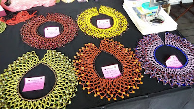 Assorted beaded colars at BIBCo Kuching