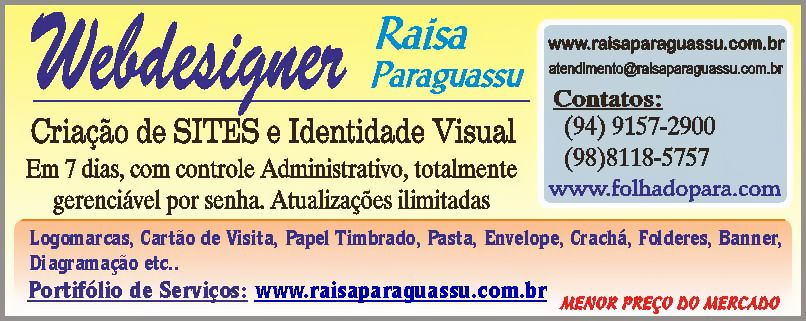 WEBDESIGNER - RAISA PARAGUASSU