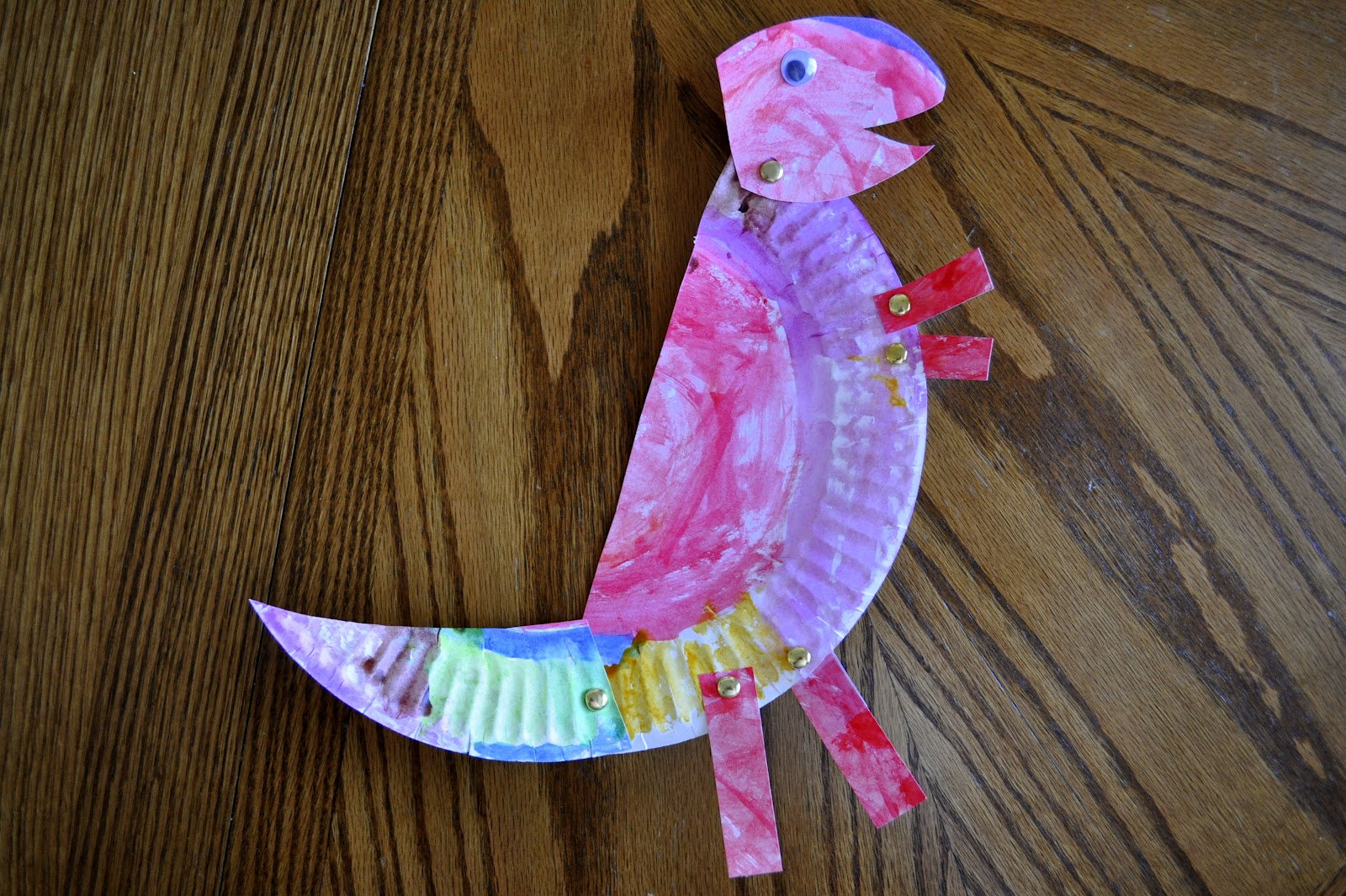 & Paper Plate T-Rex | I Heart Crafty Things
