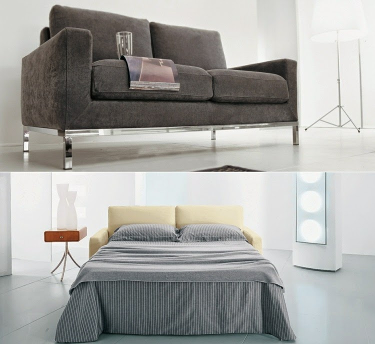 Sofa Design For Small Living Room: Pull Out Sofa Bed With Metal Frame