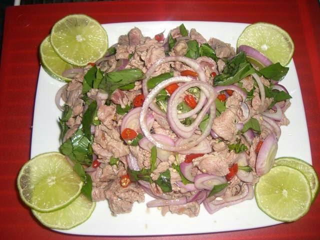 Beef in Lemon Juice - Bò Tái Chanh