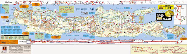peta jalur mudik jawa dan bali 2013
