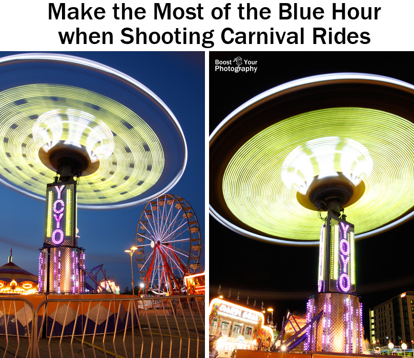 Make the most of the Blue Hour when shooting carnival rides | Boost Your Photography