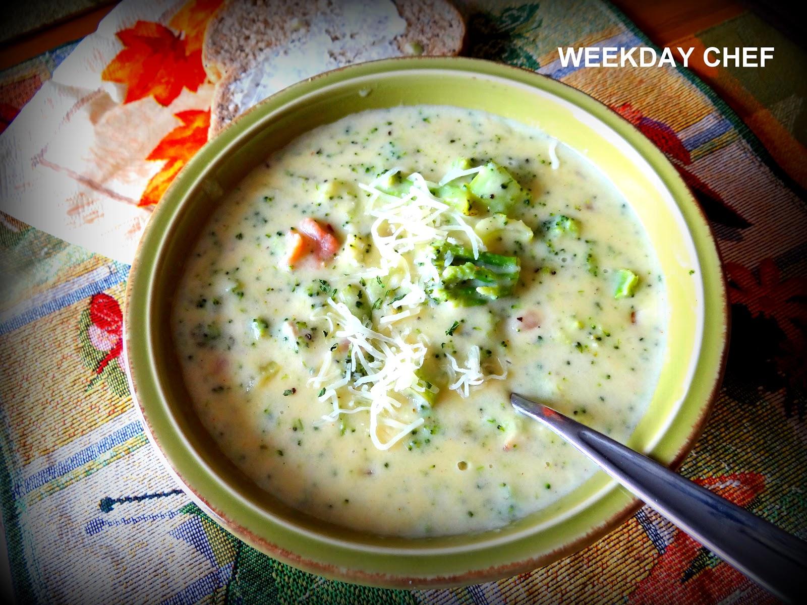 Weekday Chef: Cream of Broccoli Soup like Kneaders