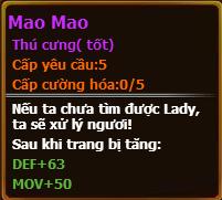 Chỉ số pet mao mao gunbao