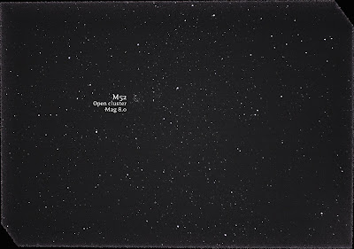 M52 open cluster