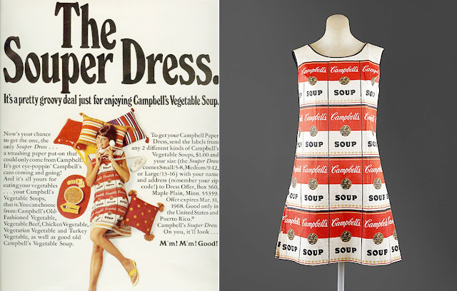 campbell soup paper dress