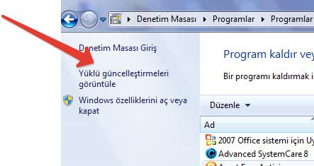Bu windows kopyası orjinal değil (KB971033)