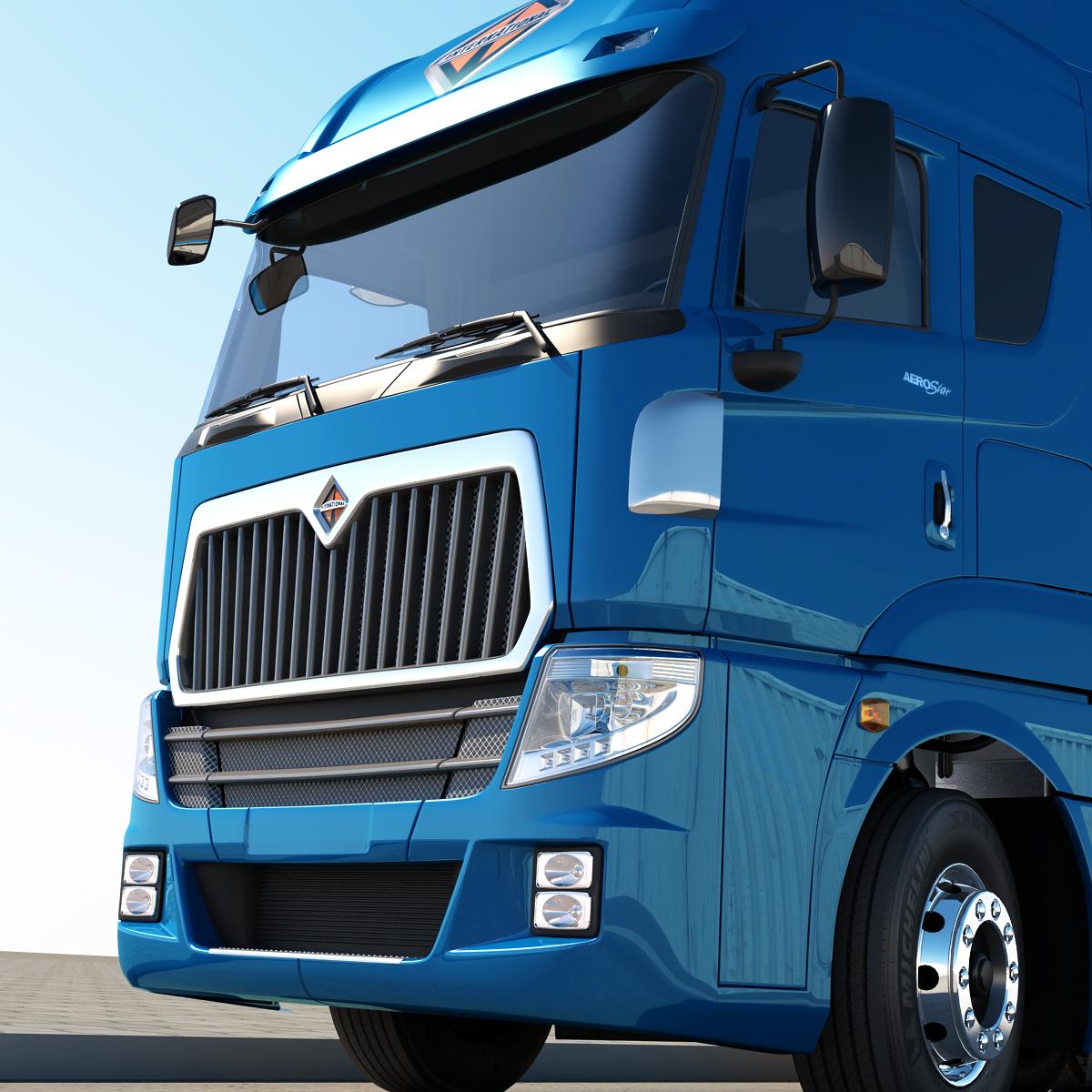 Dieciocho ruedas international aerostar esta llegando for Camiones ford interior