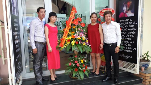 Hình ảnh khai trương Hair Salon Quỳnh Anh