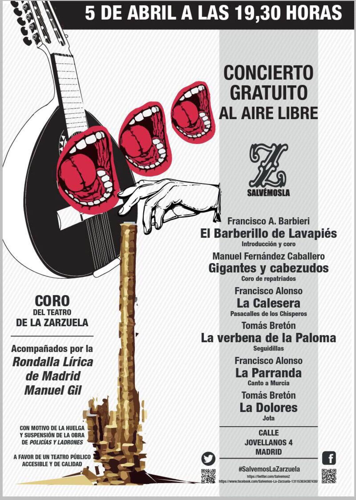 5 de abril #SalvemosLaZarzuela