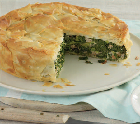 Filo Pie with Spicy Kale and Sausage Recipes