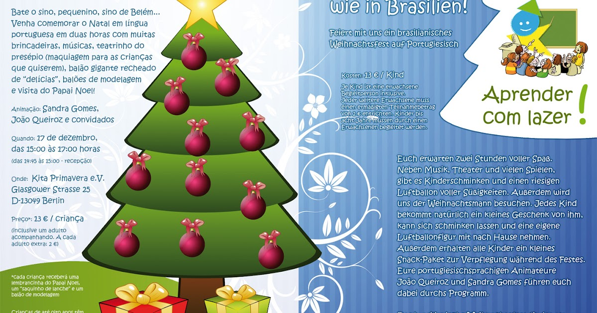 Conectando Europa e Brasil: Natal Brasileiro / Weihnachten wie in ...