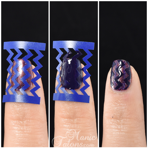 KBShimmer Chevrons with Guides Nail Vinyls