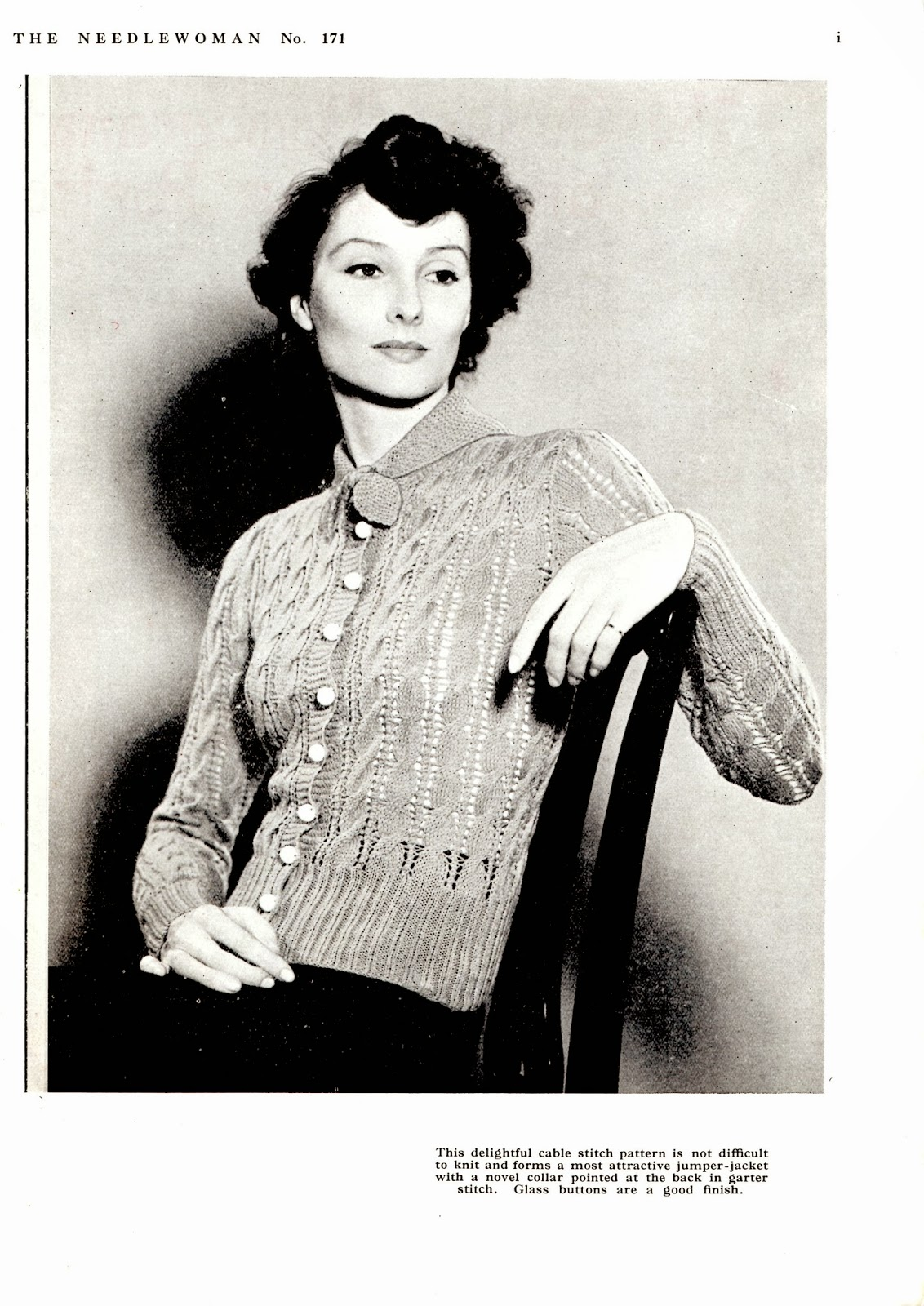 1940\'s Style For You: Free Knitting Pattern - 1930\'s cardigan - The ...