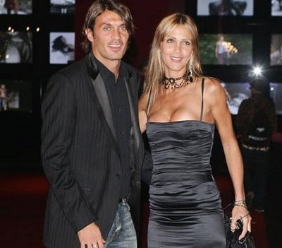 World Of Sports Paol Maldini And His Wife Adriana Fossa