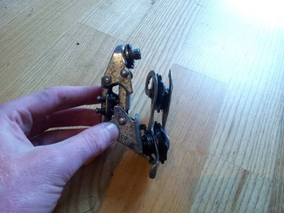mangled rear derailleur