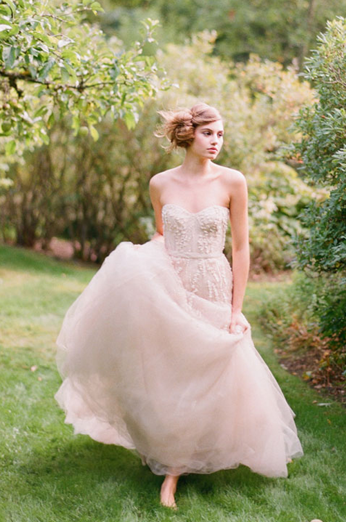 Nicole rene design weddings events home decor fashion for Blush tulle wedding dress