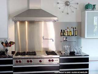 stainless steel backsplash panel