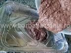 Prajitura chinezoaica (negresa cu glazura si nuca) preparare reteta blat- turnam in tava compozitia