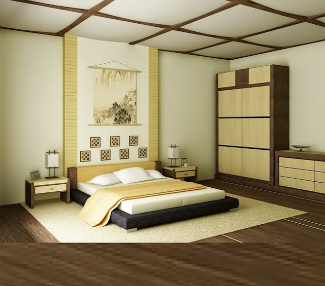 Full catalog of japanese style bedroom decor and furniture for Japanese bedroom designs pictures