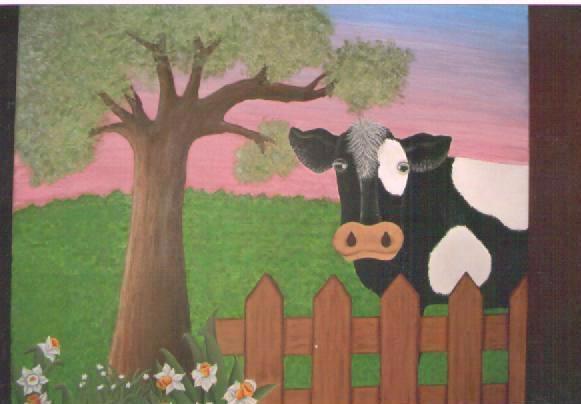 Inda tejidos y mucho mas se esconde el sol - Cuadros de vacas ...