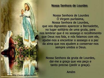 NOSSA SENHORA DE LOURDES - ROGAI POR NÓS!
