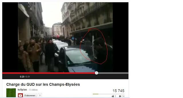 Charge du GUD lors de la manif pour tous à Paris