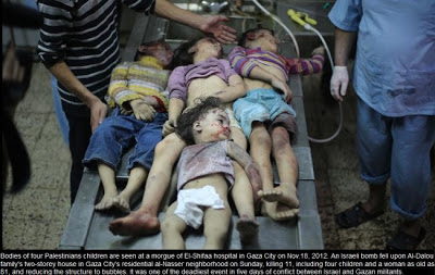 Four young children killed in an Israeli missile attack. Collateral damage or state terrorism?