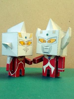 Ultraman Taro Papercraft - Mini Paper Toy