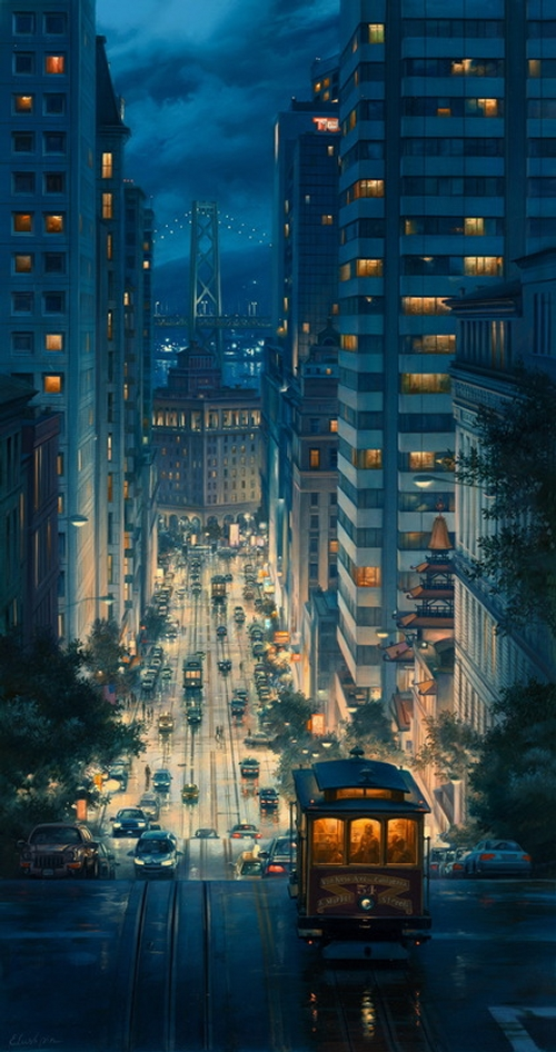 13-Light-Canyon-Evgeny-Lushpin-Scenes-of-Realistic-Night-Time-Paintings-www-designstack-co