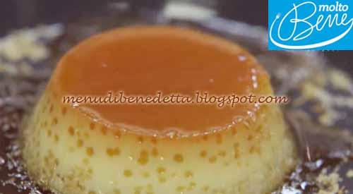 Creme caramel al cocco ricetta Parodi per Molto Bene su Real Time