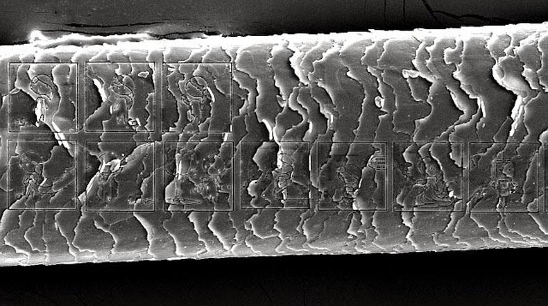 El cómic más pequeño del mundo grabado en un cabello humano
