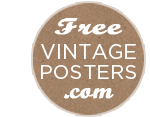 Free Vintage Printable Posters, Retro Artwork, Vintage Print Download