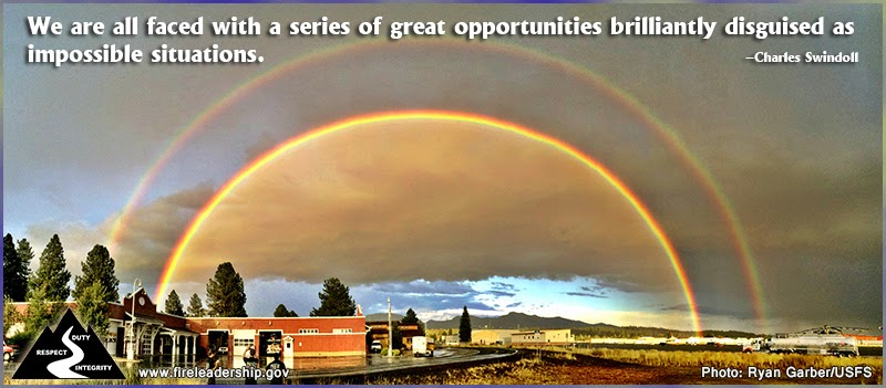 We are all faced with a series of great opportunities brilliantly disguised as impossible situations. – Charles Swindoll
