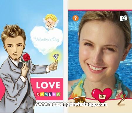 Crea caricaturas con tus fotos usando Love Camera for WhatsApp