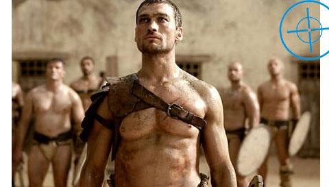 Um Festival De Homens Quase Pelados Lutando Em Spartacus No F