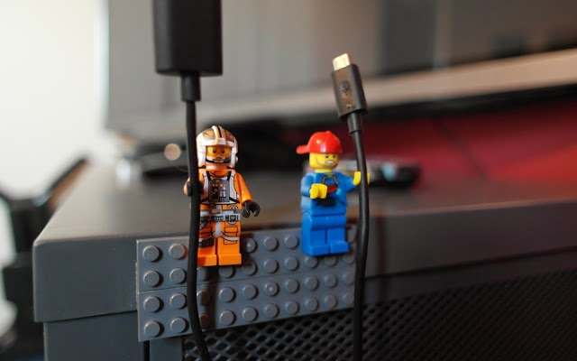 Lego minifig cable holder gadget
