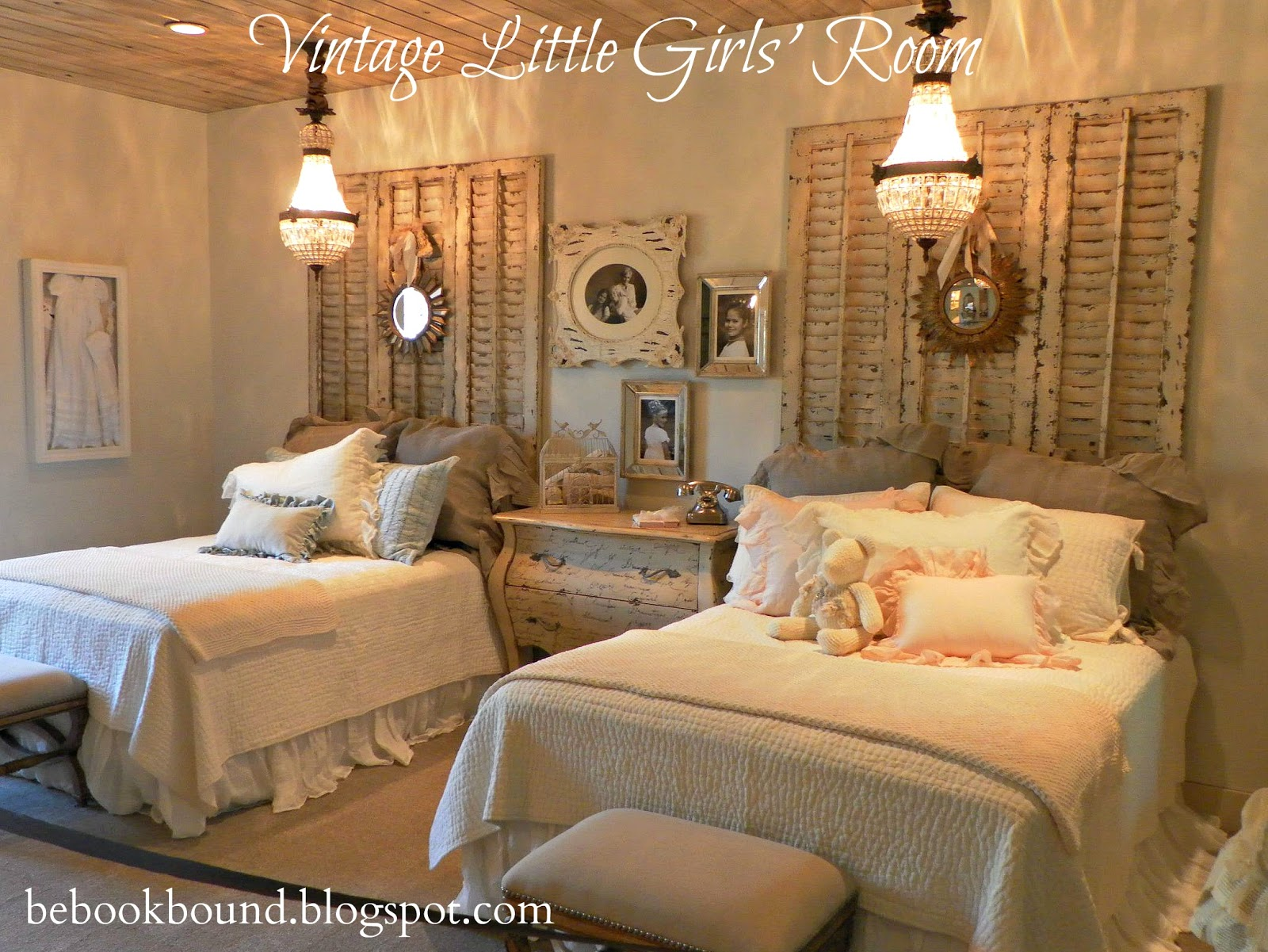 be book bound little house on the prairie a vintage bedroom for little girls. Black Bedroom Furniture Sets. Home Design Ideas