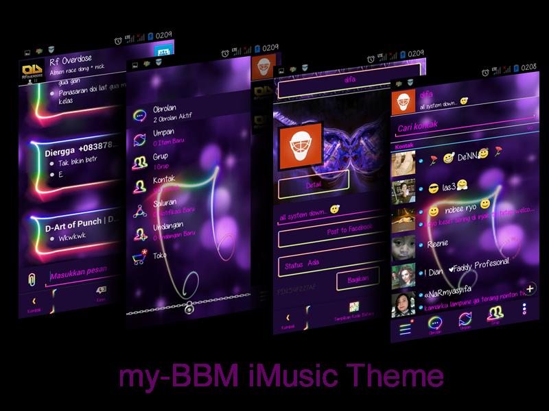 BBM Mod Clone Music 2.7.0.23 + Cover UI