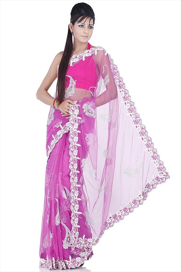 Rose Bud Net Saree