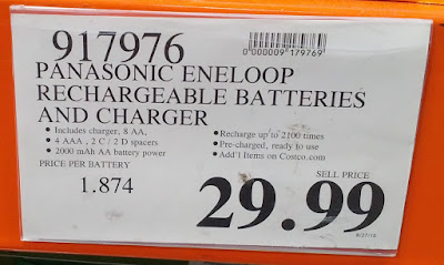 Deal for the Panasonic Eneloop Rechargeable Batteries and Charger Model BQ-CC17 at Costco